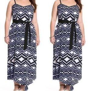 Lane Bryant | Asymmetrical Ikat Maxi Dress